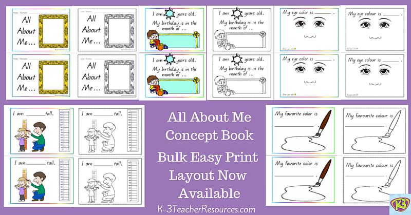 All About Me Concept Book