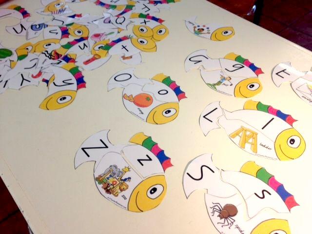 image about Alphabet Puzzle Printable identified as Printable Alphabet Fish Puzzle