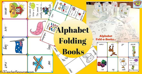 26 x Folding Alphabet Books