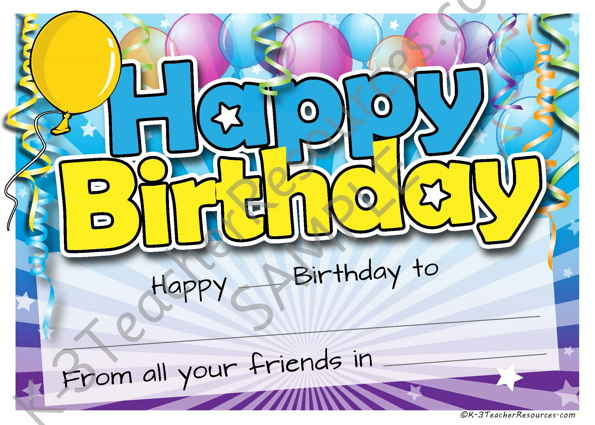Printable Birthday Certificate – Happy Birthday Certificate Templates