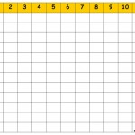 Free Blank Multiplication Chart