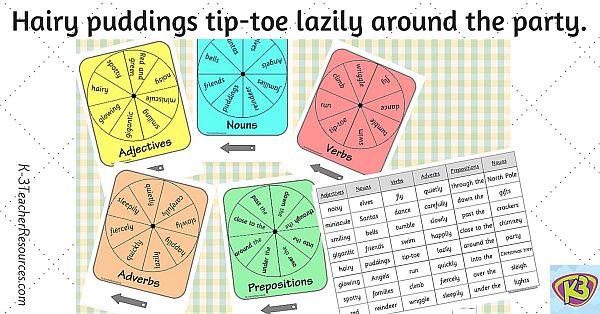 Christmas Grammar Spinners