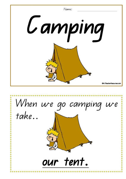 Camping Concept Book