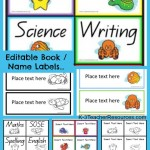 Editable Book Labels Or Name Tags