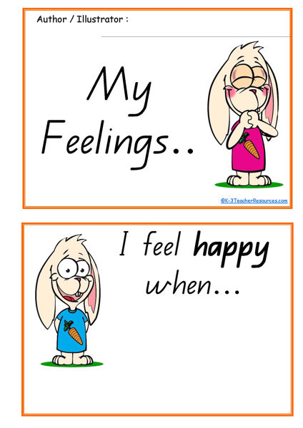 Shocking image with regard to feelings book printable
