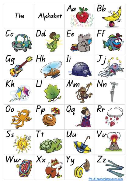 Free Alphabet Poster – 8 Pages