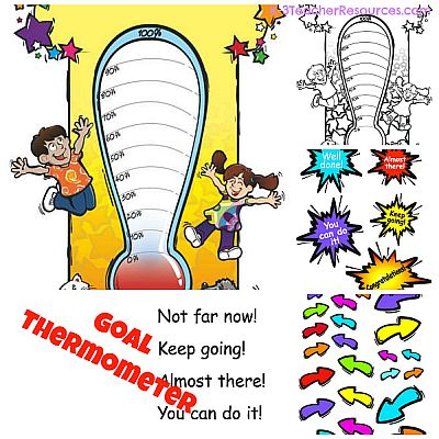 image regarding Printable Goal Thermometer titled Printable Reason Thermometer