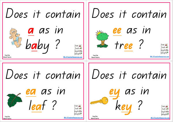 Yes Or No Alphabet and Phonics Word Sorts