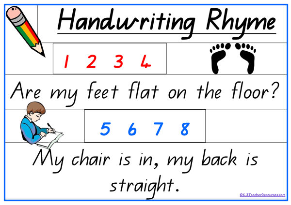Handwriting Rhyme