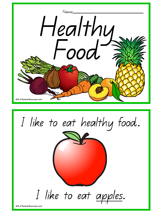 Healthy Food Concept Book