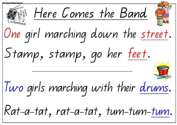 Here Comes the Band Counting Song