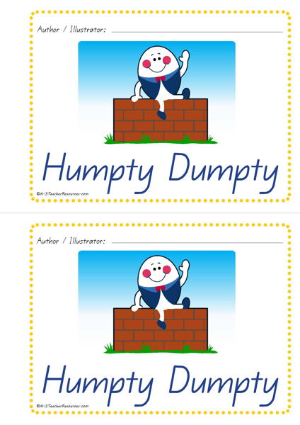 graphic about Humpty Dumpty Printable called Printable Humpty Dumpty Idea Ebook