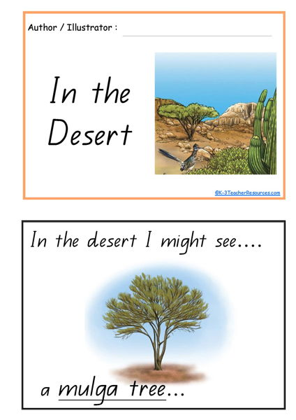 In The Desert Concept Book