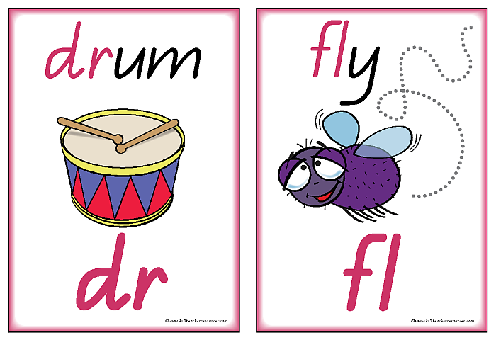 Initial And Final Consonant Blends Charts and Words