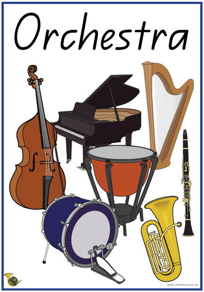 31 Instruments of the Orchestra Vocabulary Words