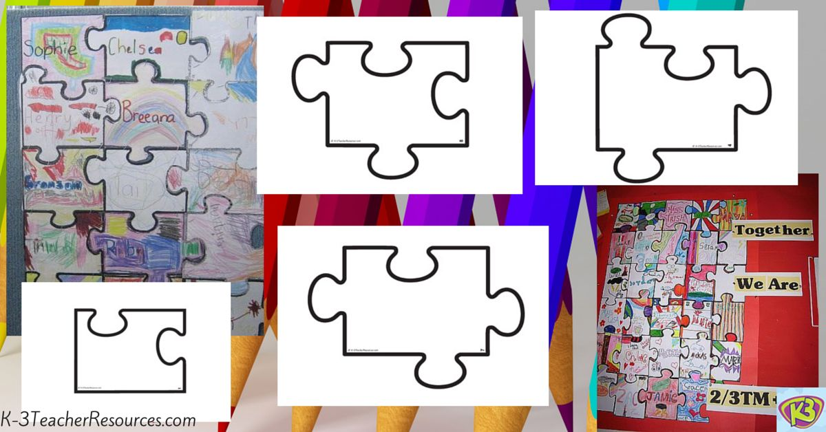 Printable Blank Jigsaw Puzzle Template