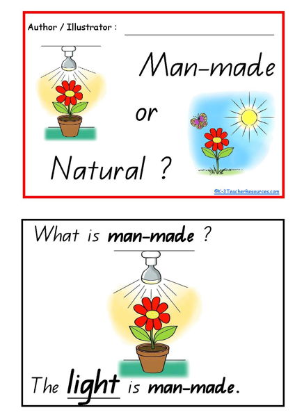 Man-made or Natural Concept Book