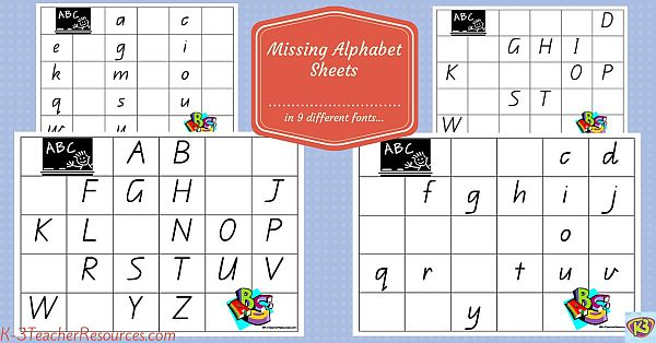 Missing Alphabet Letters