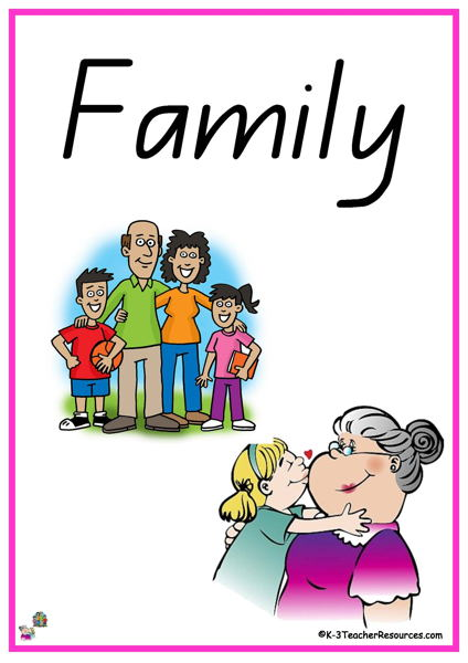My Family Vocabulary Words