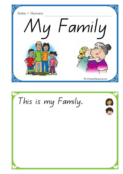 My Family Concept Book