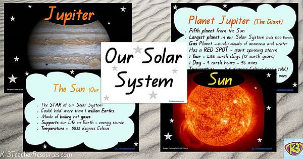 Solar System Facts Charts