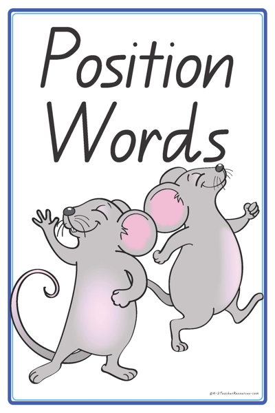 Positional Words Worksheets on Synonym Worksheets