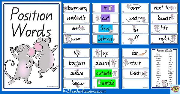 Position Vocabulary Words
