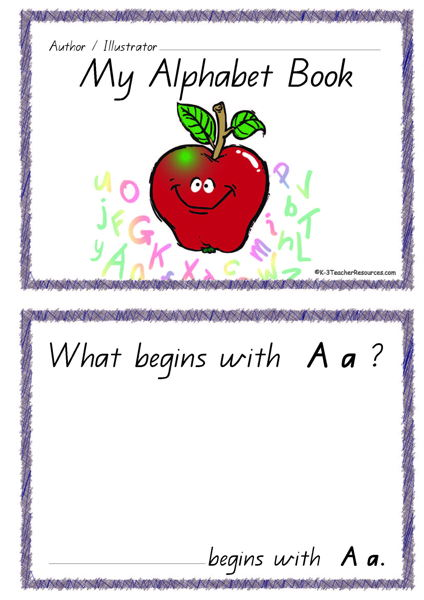 picture regarding Alphabet Book Printable referred to as Printable Alphabet Guide