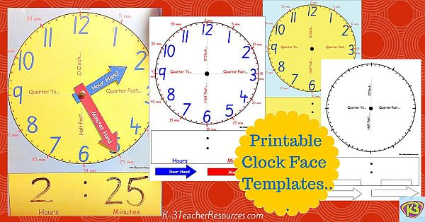image about Printable Clock Face With Hands known as Clock Confront Template