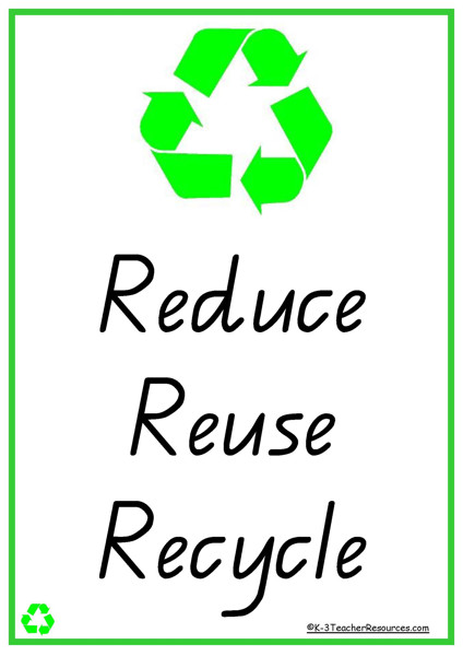 50 Reduce Reuse Recycle Vocabulary Words