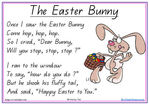 easter poems for kids - photo #7