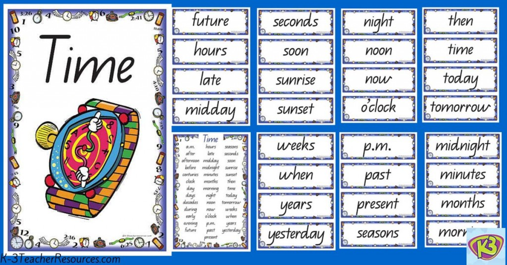 Time Vocabulary Words