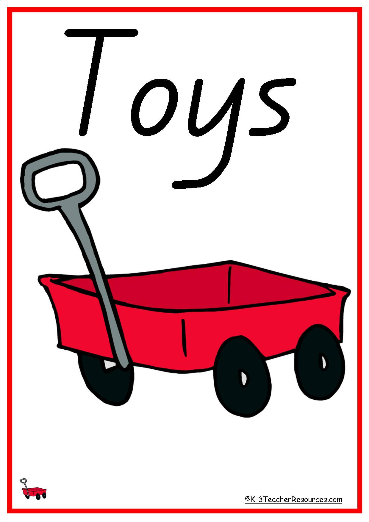 40 Toys Vocabulary Words