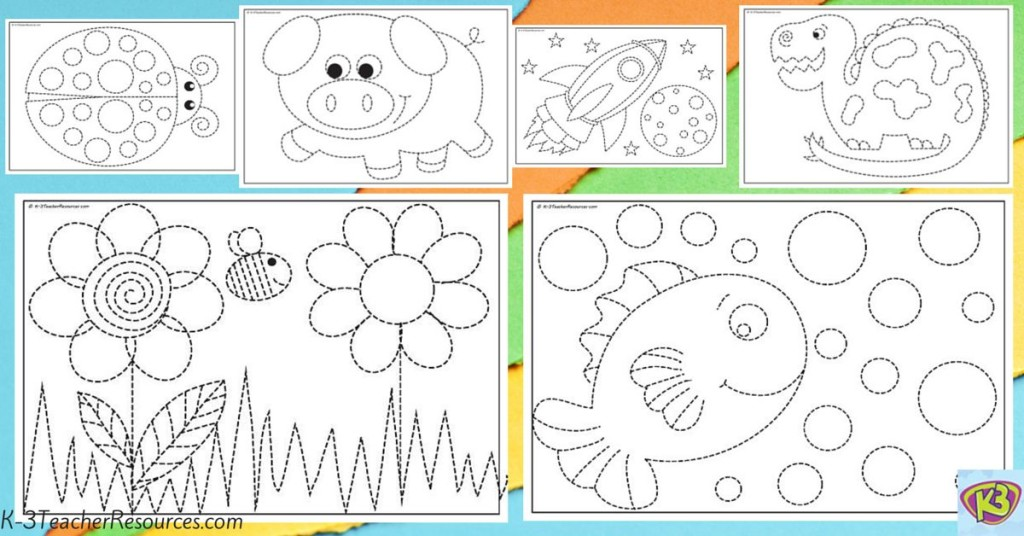12 Printable Fine Motor Tracing Sheets