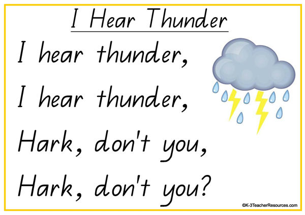 Weather Poem – I Hear Thunder