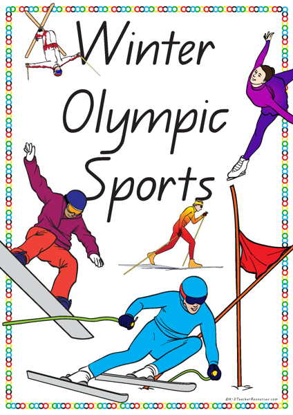 15 Winter Olympic Sports Vocabulary Words