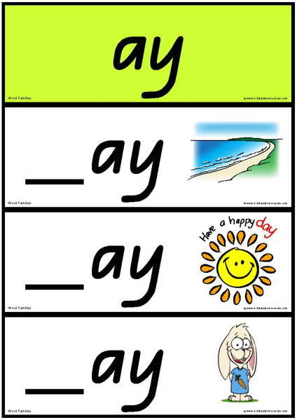 Word Families Long Vowel A