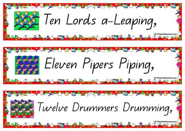 12 Days of Christmas Song K-3 Teacher Resources
