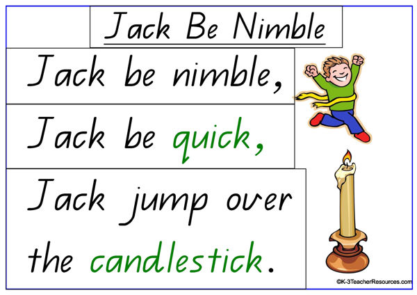 jack be nimble nursery rhyme k 3 teacher resources. Black Bedroom Furniture Sets. Home Design Ideas