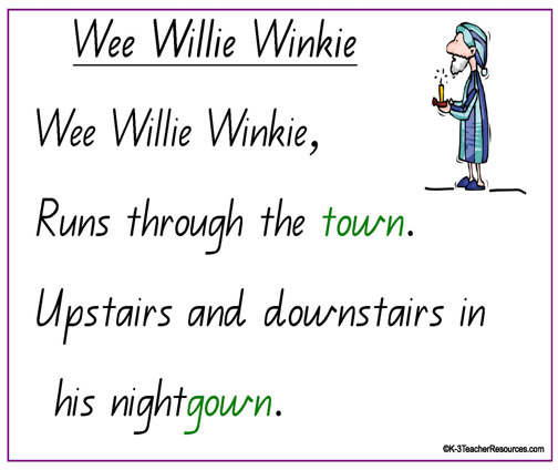 NURSERY RHYME : Wee Willie Winkie lyrics