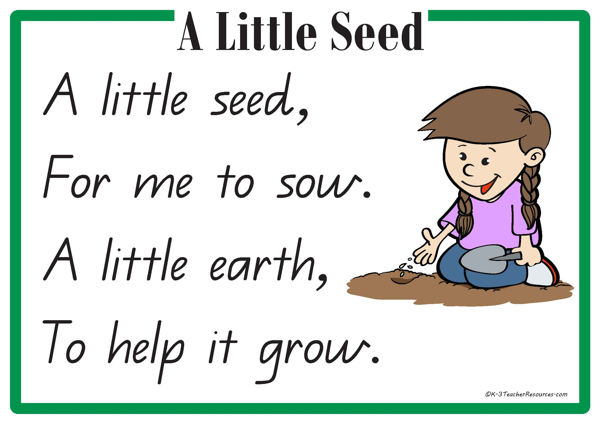A Little Seed Rhyme 1