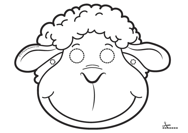 Printable masks for children k 3 teacher resources for Baa baa black sheep coloring page