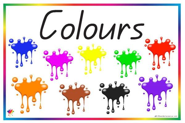 printable colour vocabulary words