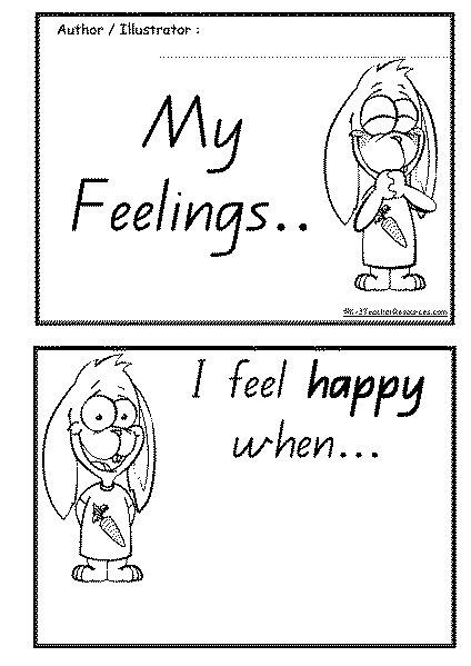Hilaire image regarding feelings book printable