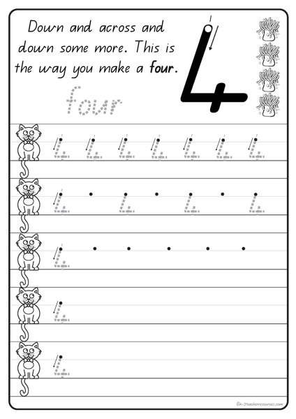 handwriting numbers practice k 3 teacher resources. Black Bedroom Furniture Sets. Home Design Ideas