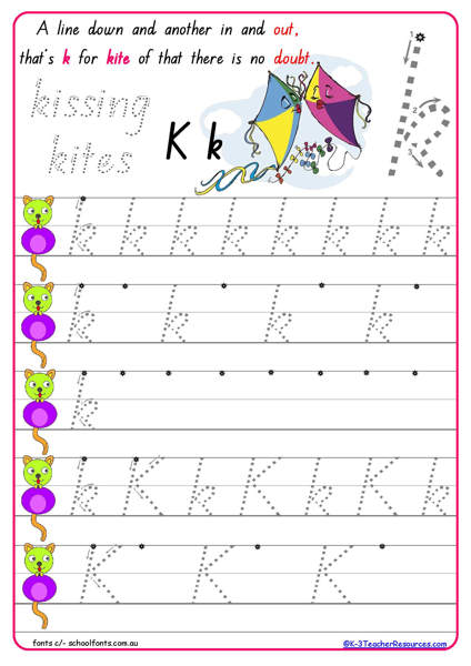 S Sound handwriting alphabet worksheets