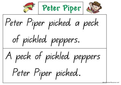 peter piper poem