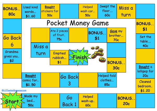 Pocket-Money-Board-Game_Page_1 - K-3 Teacher Resources