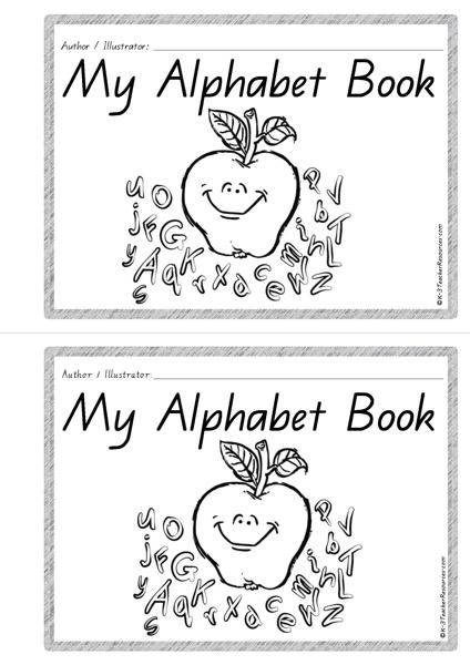 image about Alphabet Book Printable called printable-alphabet-guide-bw-2-QLD_Webpage_01 - K-3 Trainer Products
