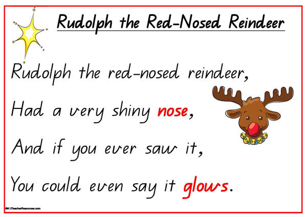 christmas song rudolph the red nosed reindeer
